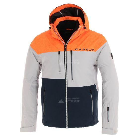Dare2b, Roamer Pro, ski-jas, heren, vibrant oranje/cyberspace grijs/outerspace blauw