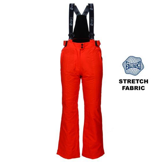 Deluni, 2-way stretch skibroek dames slim fit, rood