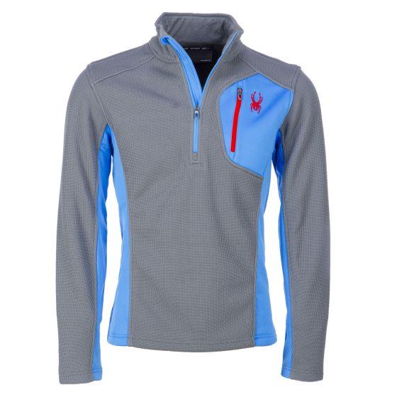 Spyder, Bandit half Zip, stretch fleece sweater, heren, IMG-FRW-red (Ski kleding heren)