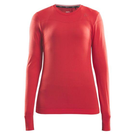 Craft, Fuseknit comfort RN LS, thermoshirt, dames, beam roze