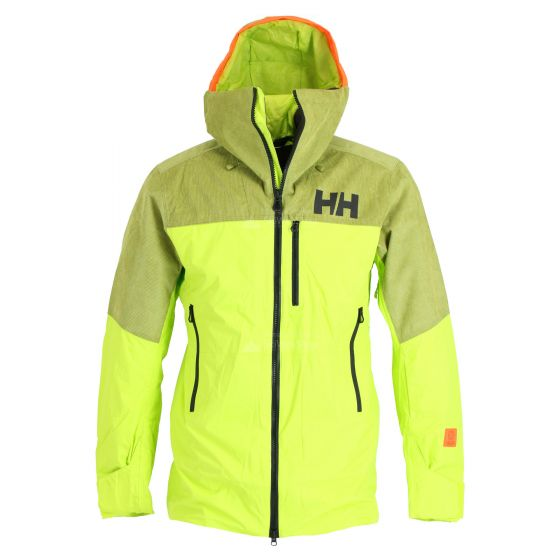 Helly Hansen, Straightline lifaloft, ski-jas, heren, azid lime groen