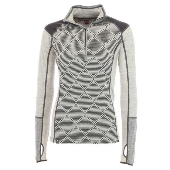 Kari Traa, Rett H/Z, thermoshirt, dames, greym grijs