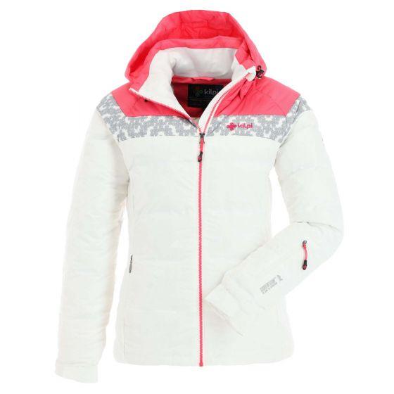 Kilpi, Synthia, ski-jas, dames, wit/roze