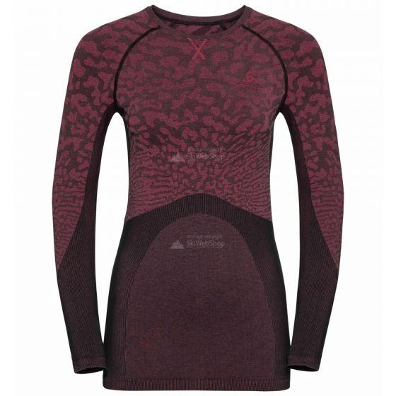 Odlo, Blackcomb BL, thermoshirt, dames, cerise zwart