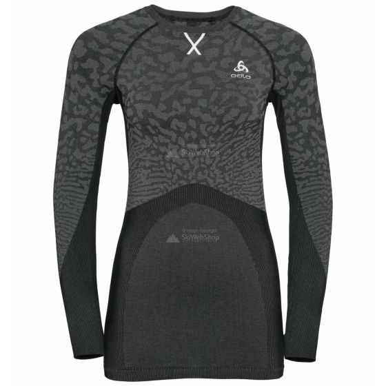 Odlo, Blackcomb BL, thermoshirt, dames, grijs/zwart