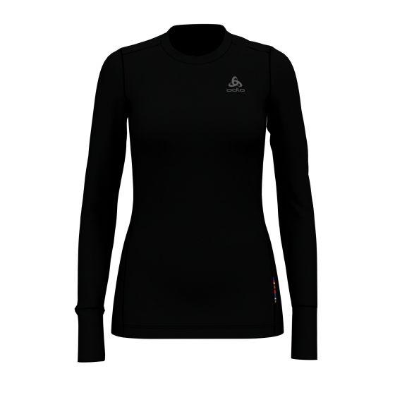 Odlo, Nat 100% Merino Warm Suw, thermoshirt, dames, zwart