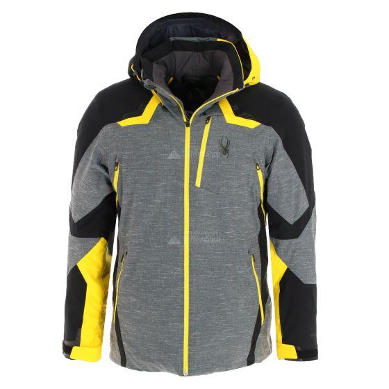 Spyder, Leader GTX, ski-jas, heren, geel/zwart