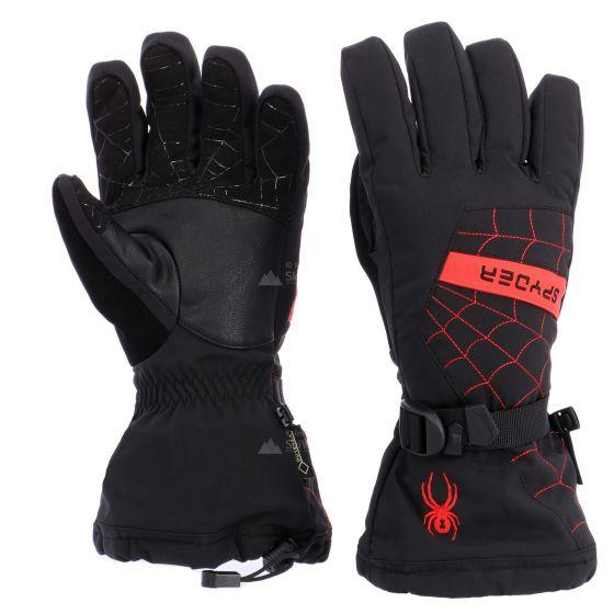 Spyder, Overweb GTX ski, handschoenen, heren, zwart/volcano rood