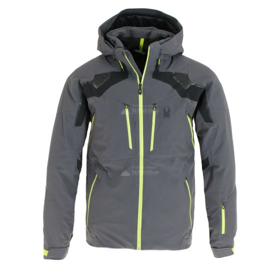 Spyder, Pinnacle GTX, ski-jas, heren, ebony grijs