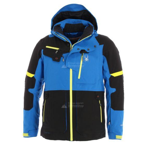 Spyder, Tordrillo, ski-jas, heren, sea blauw/zwart/acid geel