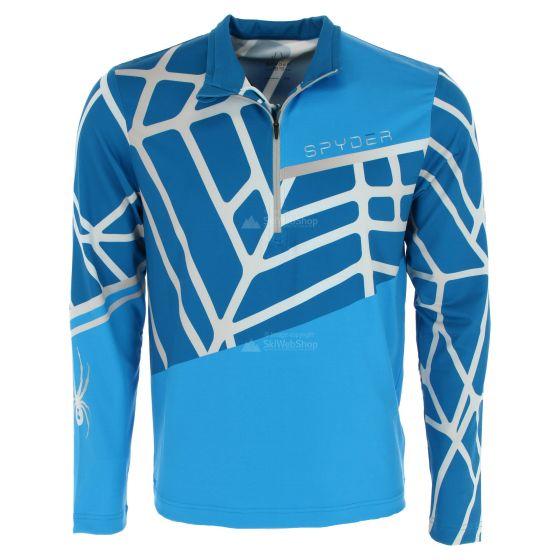 Spyder, Vital zip T-neck, skipully, heren, lagoon blauw