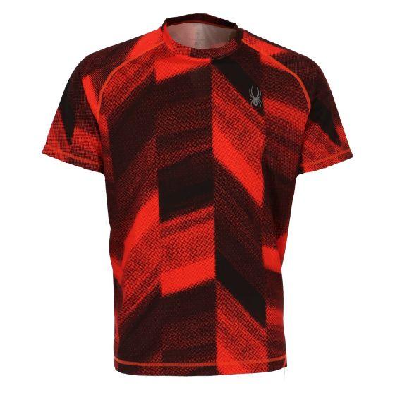 Spyder, Alps short sleeve shirt, heren, rarge halftone print (Ski kleding heren)