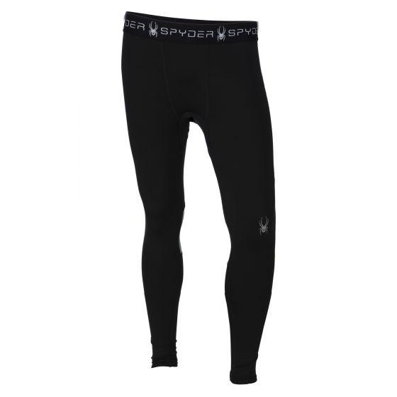 Spyder, Alps 3/4 tech tight - broek, heren, black-img-red (Ski kleding heren)