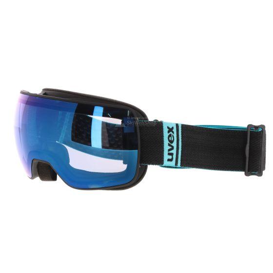 Uvex, Compact FM, skibril, (mirror blue visor) mat zwart