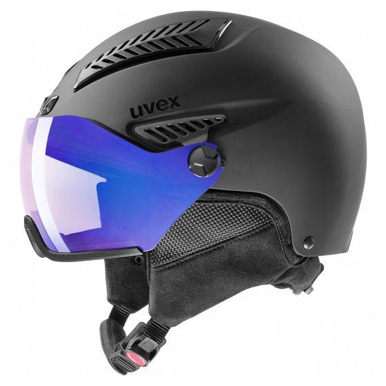 Uvex, Hlmt 600 visor V, skihelm met vizier, zwart