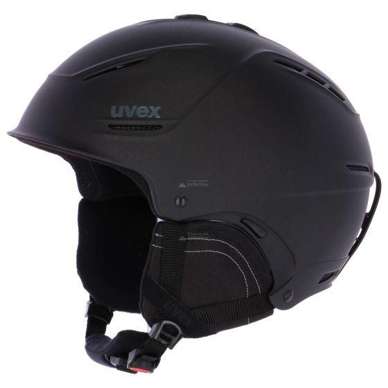 Uvex, P1us 2.0 skihelm, mat zwart (Ski helmen)