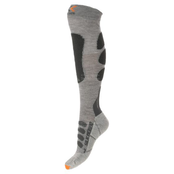 X-Socks Ski Silk Merino, technical skisokken, heren, grijs