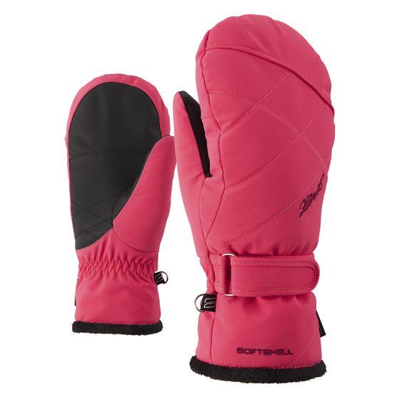 Ziener, Kamillana AS Mitten Lady skihandschoenen, wanten, dames, roze