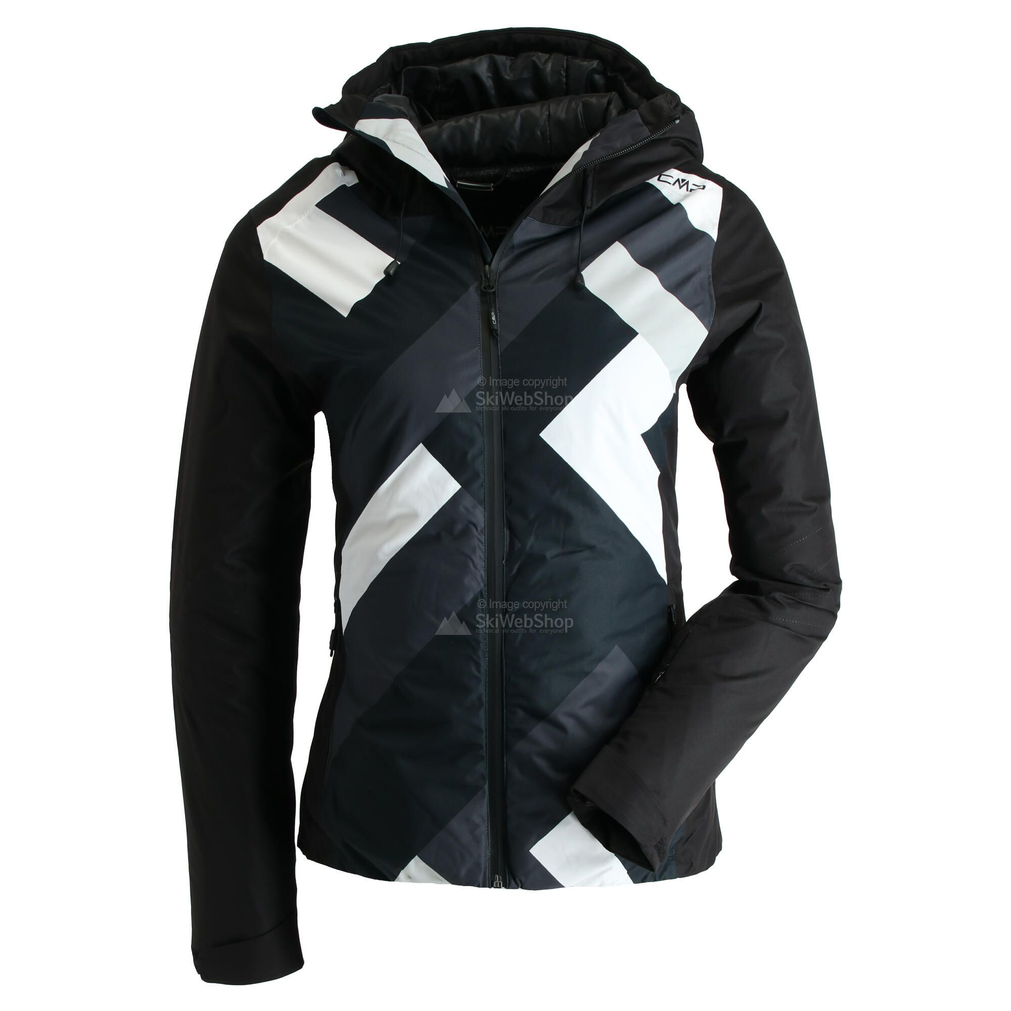 CMP, Ski jacket fix hood photo print, ski jas, dames, print