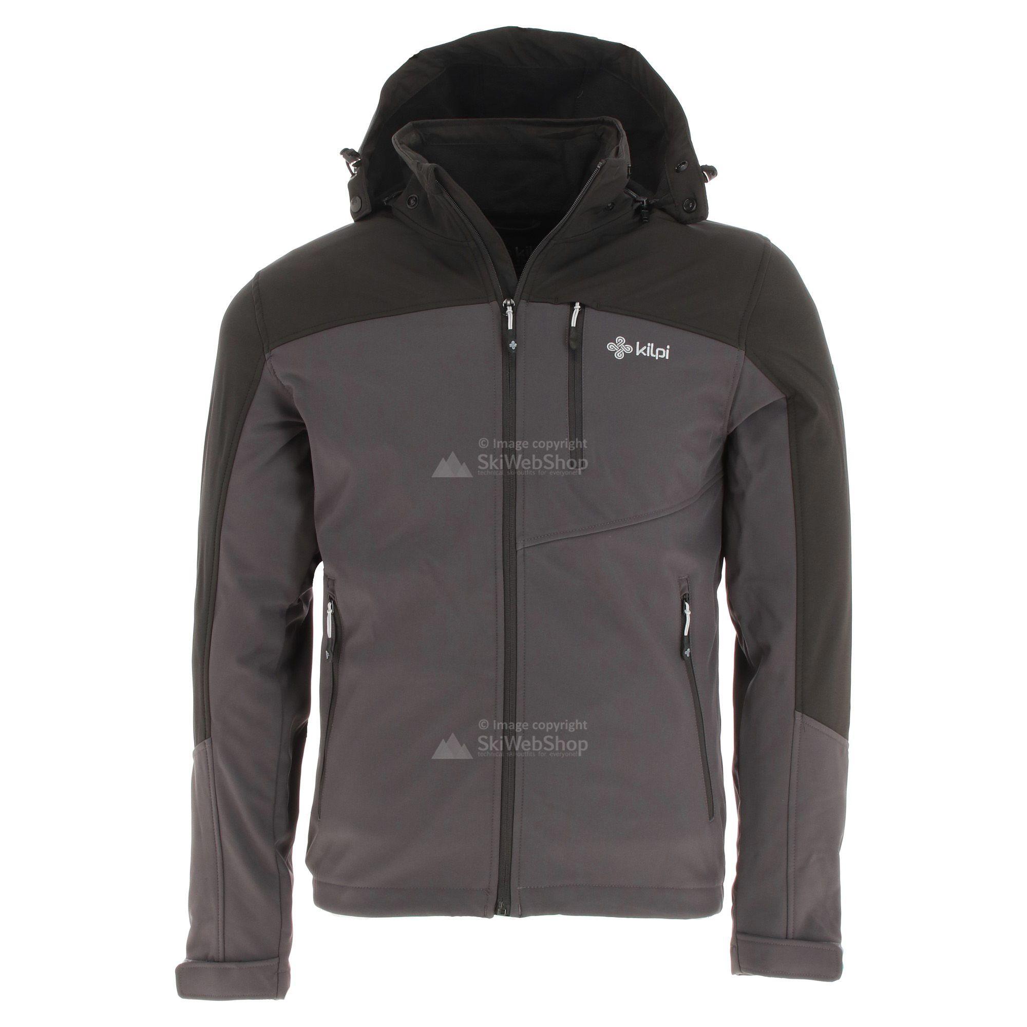 Kilpi, Elio, softshell ski jas, grote maten, heren, grijs