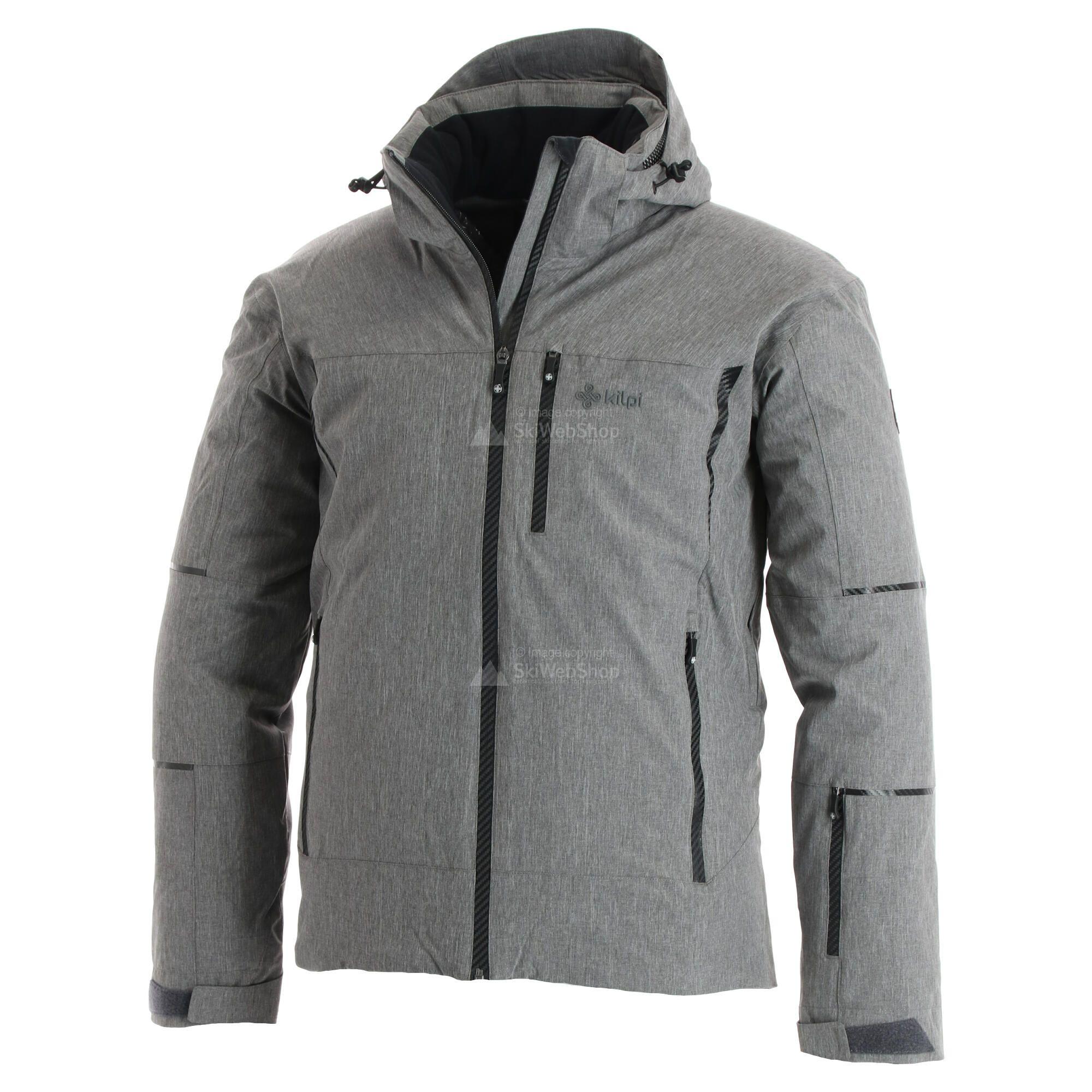 Kilpi, Tonn, ski jas, heren, grote maat, dark grijs • SkiWebShop
