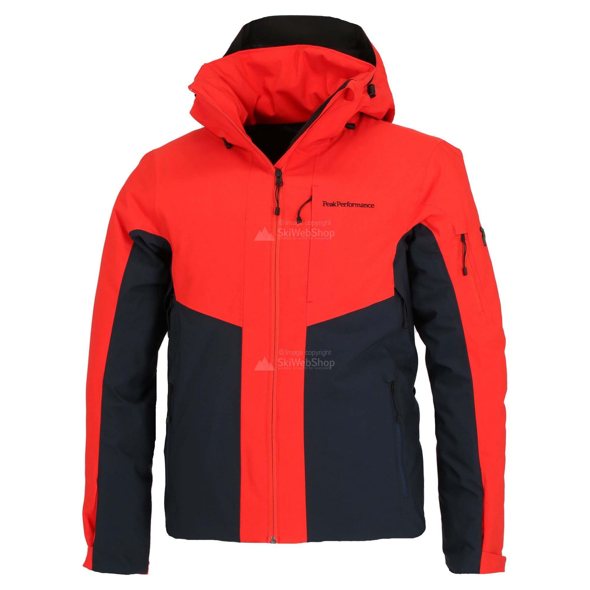 Peak Performance, Maroon, ski jas, heren, dyna rood • SkiWebShop