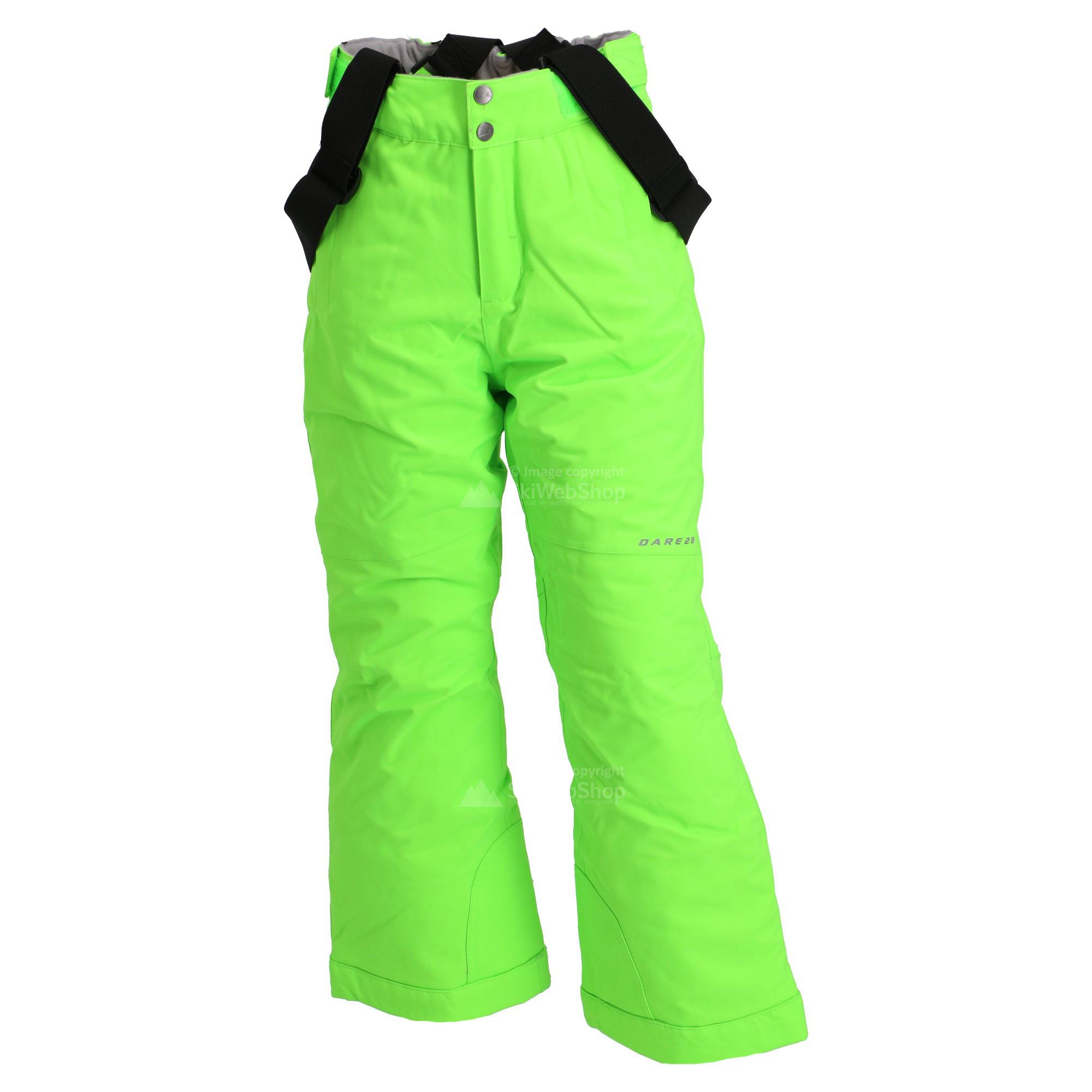 7a7ea0d69e6872 Dare2b, Take On, skibroek, kinderen, neon green