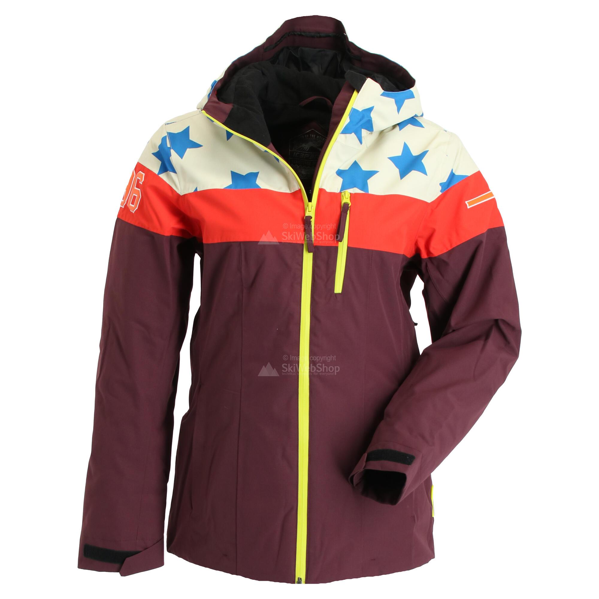 Icepeak, Clearlake, ski jas, dames, wine bordeaux