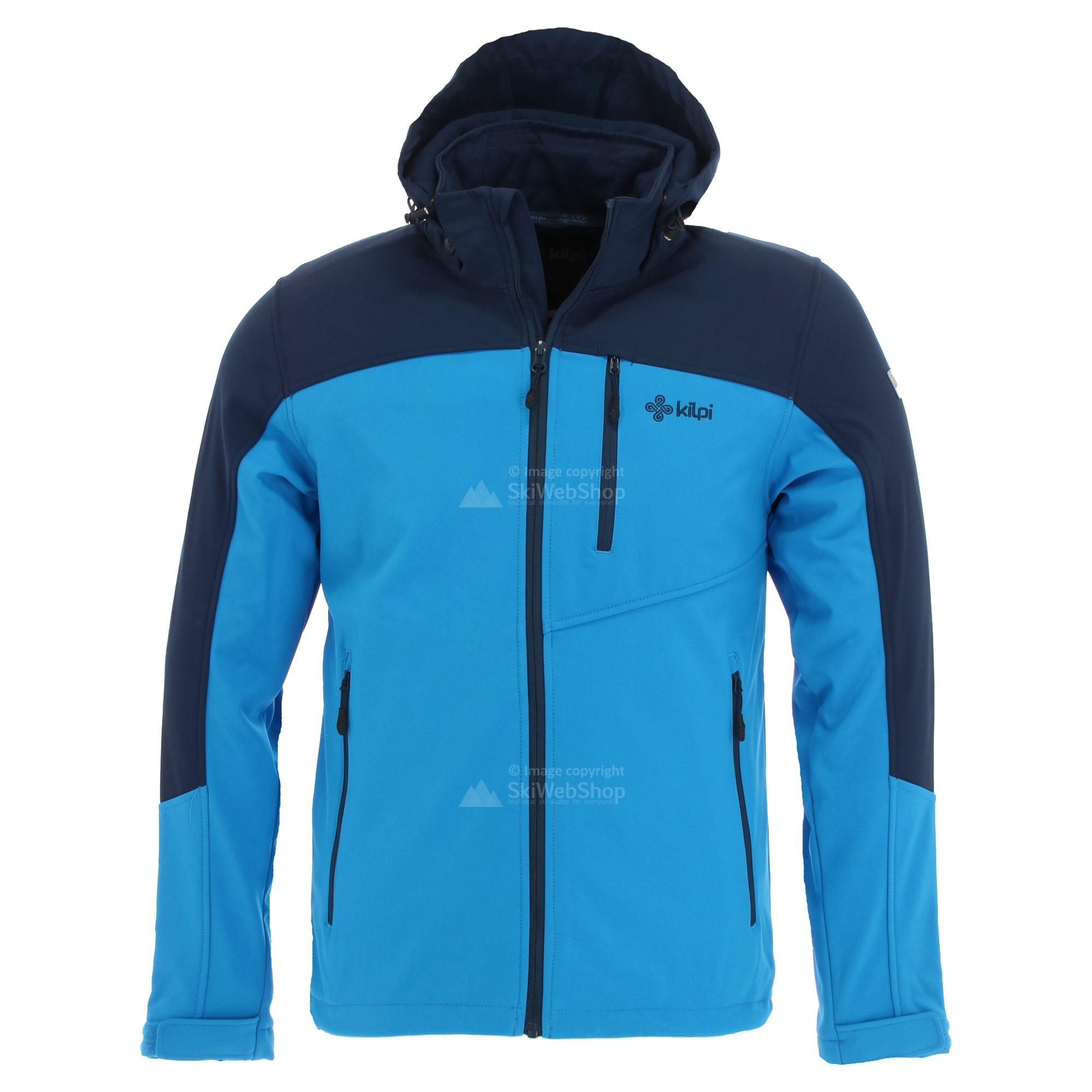 Kilpi, Elio, softshell ski jas, heren, blauw