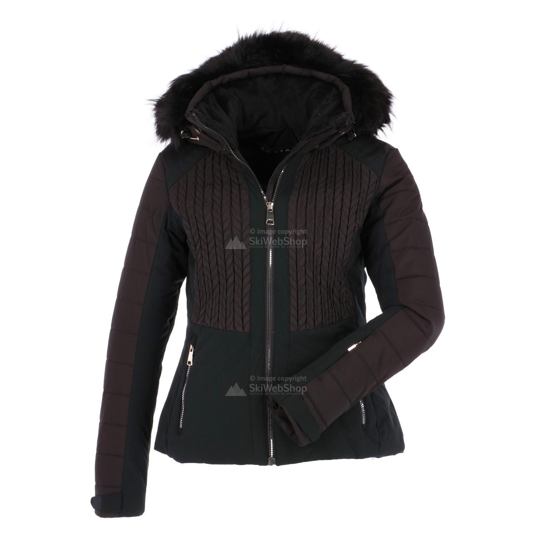 luhta beta slim fit ski jas dames black. Black Bedroom Furniture Sets. Home Design Ideas