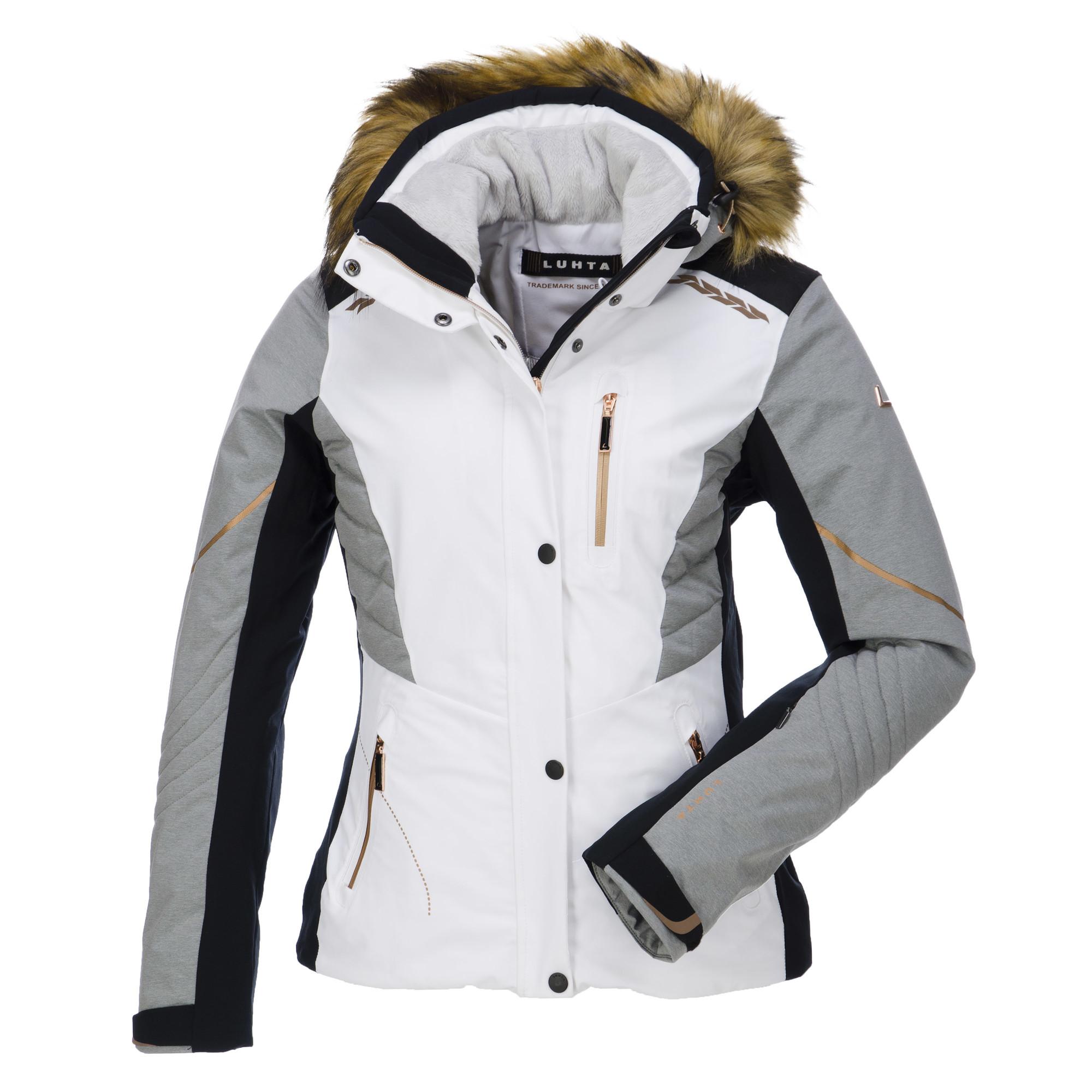 luhta gerda ski jas dames wit. Black Bedroom Furniture Sets. Home Design Ideas